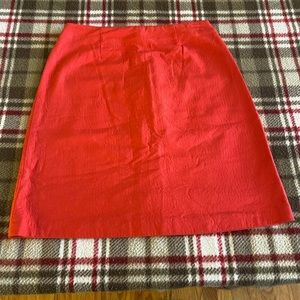 J Crew Coral Pencil Skirt